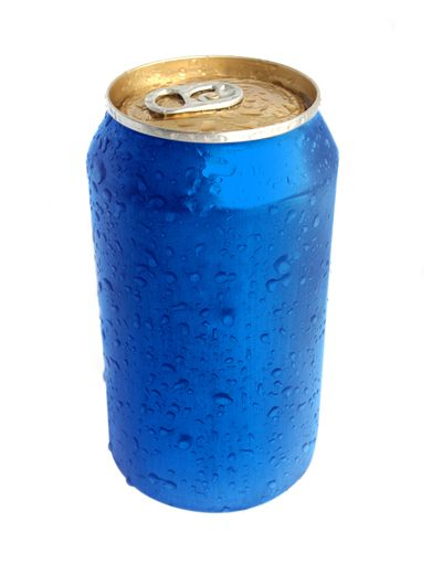 Picture Of Blue Aluminium Can