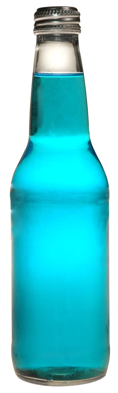 Picture Of Blue Soda Bottle