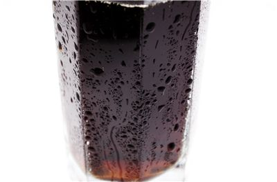 Picture Of Glass Of Coke With Drops