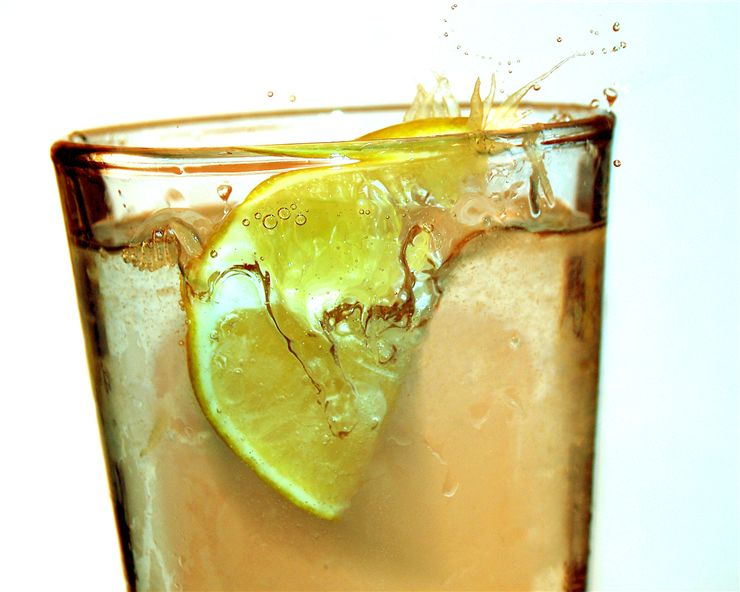 Picture Of Glass Of Lemon Soda Drink