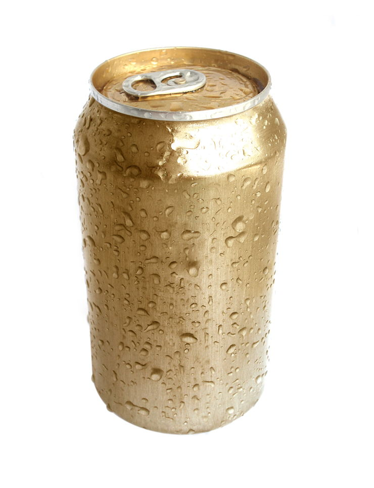 Picture Of Gold Aluminium Can