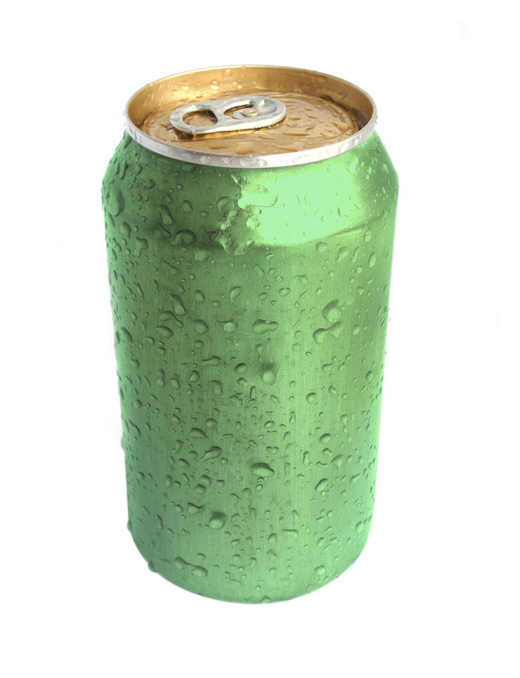 Picture Of Green Aluminium Can