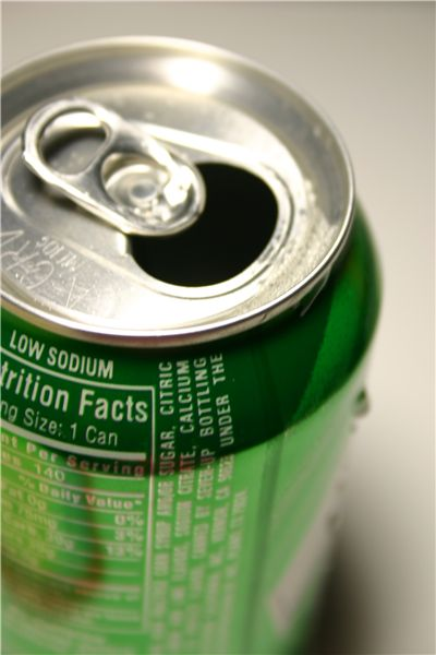 Picture Of Green Can Of Soft Drink