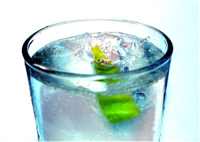 Picture Of Lime Water Beverage