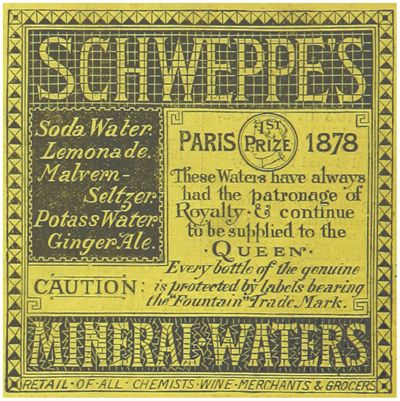 Picture Of Schweppes Mineral Waters Advertisement From 1883