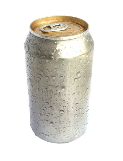 Picture Of Silver Aluminium Can