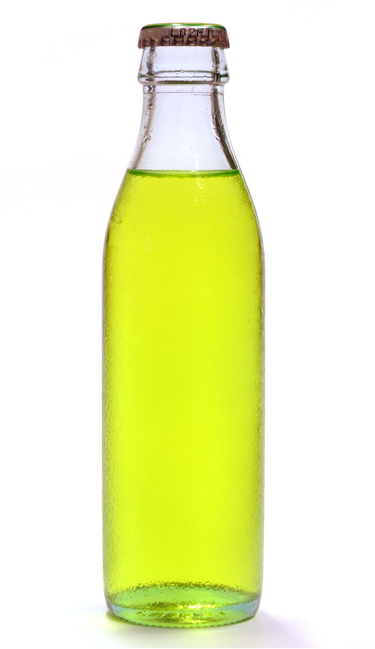 Picture Of Yellow Soda Bottle